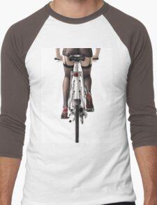 Sexy Woman Riding a Bike T-shirt design Men's Baseball ¾ T-Shirt