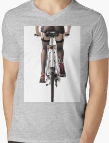 Sexy Woman Riding a Bike T-shirt design Mens V-Neck T-Shirt