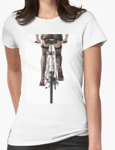 Sexy Woman Riding a Bike T-shirt design Womens Fitted T-Shirt