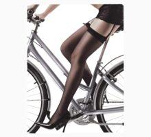Sexy Woman Riding a Bike T-shirt design by ArtNudePhotos