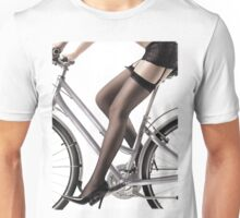 Sexy Woman Riding a Bike T-shirt design Unisex T-Shirt