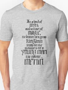 In a Land of Myth... Merlin (black) T-Shirt