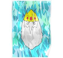 Ice King Inspired Print - Adventure Time Inspired Poster Poster