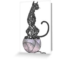 Cat Loving Words Greeting Card
