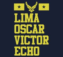 Lima Oscar Victor Echo (Air Force) by thatsjustsuper