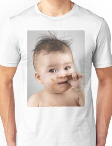 One Messy Baby Boy Sucking His Thumb T-shirt design Unisex T-Shirt