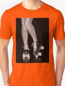 Girl legs in roller skates artistic concept T-shirt design Unisex T-Shirt