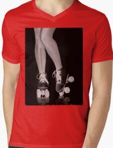 Girl legs in roller skates artistic concept T-shirt design Mens V-Neck T-Shirt