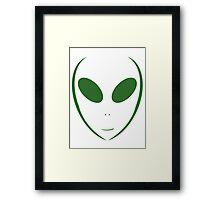 Alien 10 Green Framed Print