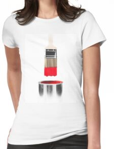 Brush Dipped in Red Paint T-shirt design Womens Fitted T-Shirt