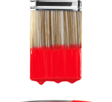 Brush Dipped in Red Paint T-shirt design Sticker