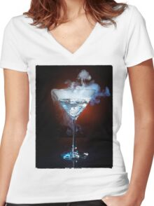 Exotic Drink T-shirt design Women's Fitted V-Neck T-Shirt