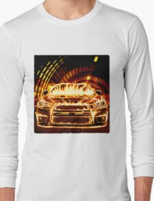 Sports Car in Flames T-shirt design T-Shirt
