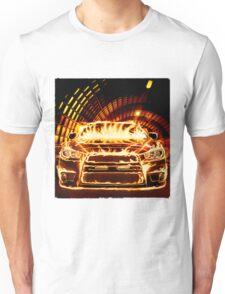 Sports Car in Flames T-shirt design Unisex T-Shirt