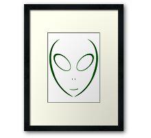 Alien 11 Green Framed Print