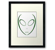 Alien 14 Green Framed Print