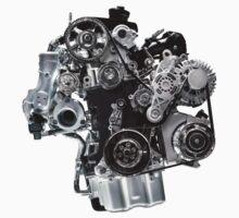 Internal Combustion VW Car Engine T-shirt design Kids Clothes