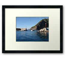 Italian Fishing Harbor Framed Print