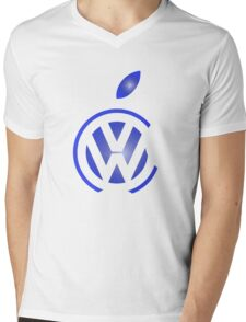 volkswagen and apple Mens V-Neck T-Shirt