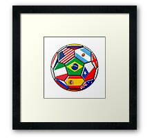 Brazil 2014 - soccer with various flags Framed Print