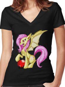 Flutterbat Women's Fitted V-Neck T-Shirt