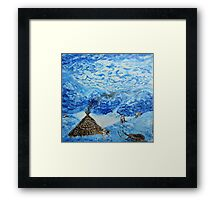Polar landscape (classical oil painting for posters and prints) Framed Print
