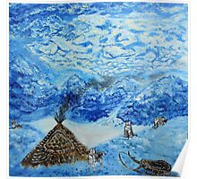 Polar landscape (classical oil painting for posters and prints) Poster