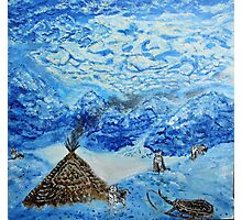 Polar landscape (classical oil painting for posters and prints) Photographic Print