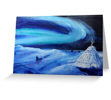 Aurora borealis (classical oil painting for posters and prints) Greeting Card