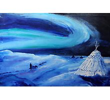 Aurora borealis (classical oil painting for posters and prints) Photographic Print