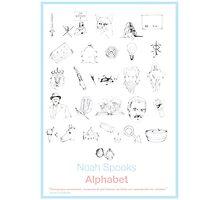 Spooks Alphabet Photographic Print