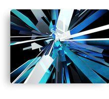 Shades of Blue Boxes Canvas Print