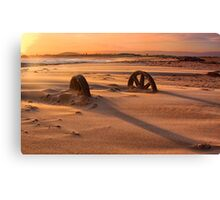 Doing cartwheels over the sunset Canvas Print