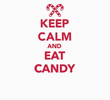 Keep calm and eat candy  Womens Fitted T-Shirt