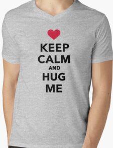 Keep calm and hug me  Mens V-Neck T-Shirt