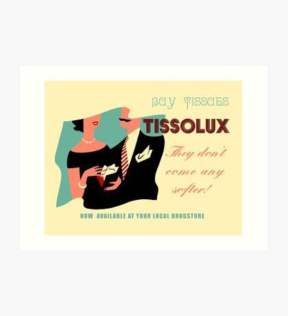 Retro vintage paper tissues advertisement Art Print