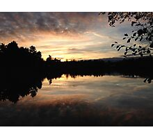 Sunset over the Lake Photographic Print