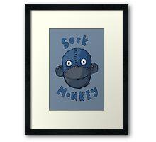 Crafty Sock Monkey Always Happy to See You ! Framed Print
