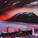 'Fire & Snow: Ingleborough' by Martin Williamson (©cobbybrook)