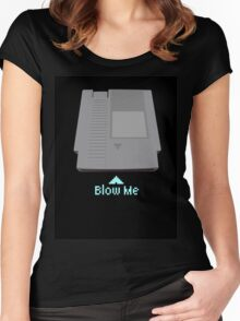 Keep calm and blow me in the cartridge Women's Fitted Scoop T-Shirt