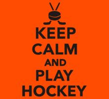 Keep calm and play Hockey  Kids Clothes