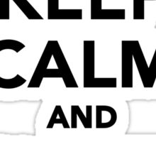 Keep calm and skate on Sticker