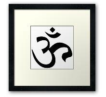 ohm mantra om yoga indian symbol Framed Print