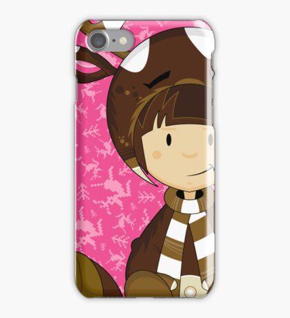 Cute Reindeer Kid iPhone Case/Skin