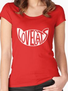 Lovecats - White Women's Fitted Scoop T-Shirt