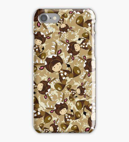 Cute Reindeer Kid Pattern iPhone Case/Skin