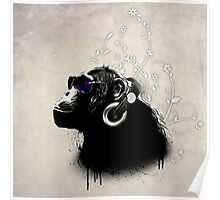 Monkey Tripping Poster