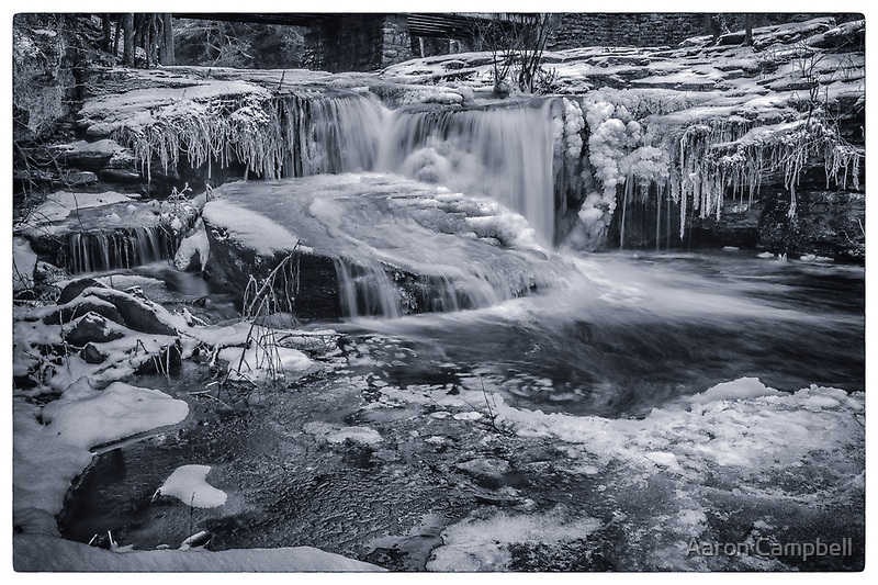 Ricochet Falls in Winter by Aaron Campbell