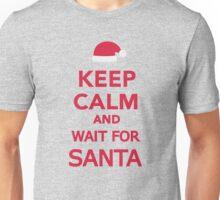 Keep calm and wait for Santa Unisex T-Shirt