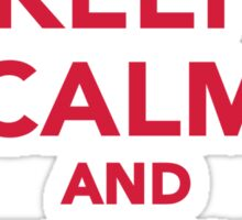 Keep calm and wait for Santa Sticker